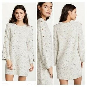 Madewell Donegal sweater Dress Button Sleeve S